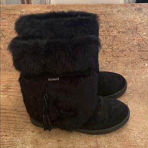 Bearpaw Black Rabbit Snow Boots size 10